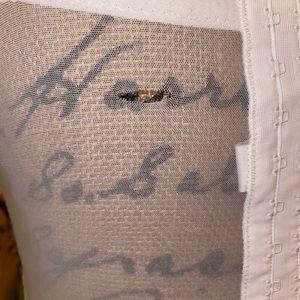 Un Deux Trois Intimates & Sleepwear - White lace floral garter dress with garter straps